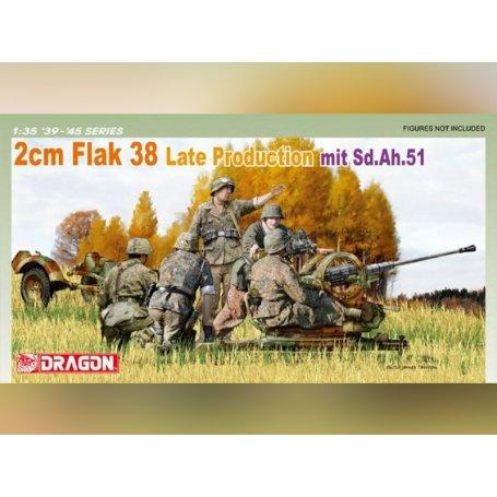 FlaK 38 2cm Production Tardive - 1/35 - DRAGON 6546