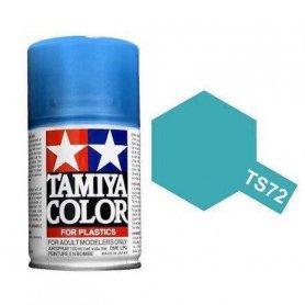 Tamiya TS-72 - Bleu translucide - Clear blue - bombe 100 ml