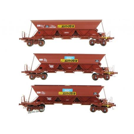 Set de 3 wagons trémie EX T2 «SIMOTRA» - ép. IV - HO 1/87 - REE WB-576
