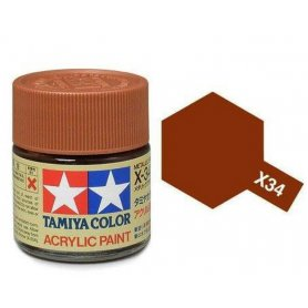 Tamiya X-34 - brun métal brillant - pot acrylique 10 ml