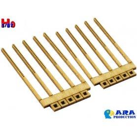 10x poteaux anciens type béton échelle HO - Ara Production