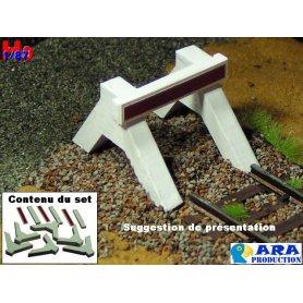 Set de 3x heurtoir bi bloc béton à monter échelle HO - Ara Production