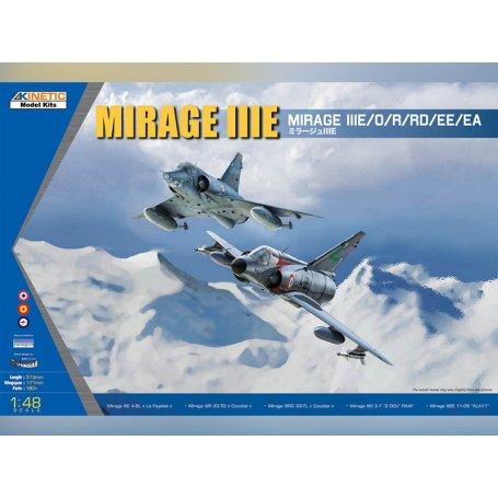 MIRAGE IIIE/O/R/RD - échelle 1/48 - KINETIC K48050