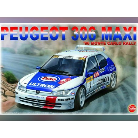 Peugeot 306 Maxi Monte Carlo 96 - échelle 1/24 - NUNU 24009