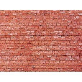Faller 170613 - Plaque décor - brique grès rouge - HO