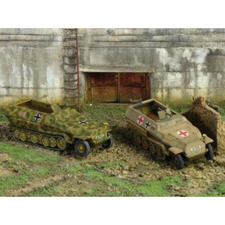 WWII ITALERI 7516-1//72-2 blindés Sd Kfz 251//1 ausf.c