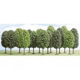 Busch 6485 - Lot de 15 arbres feuillus échelle HO