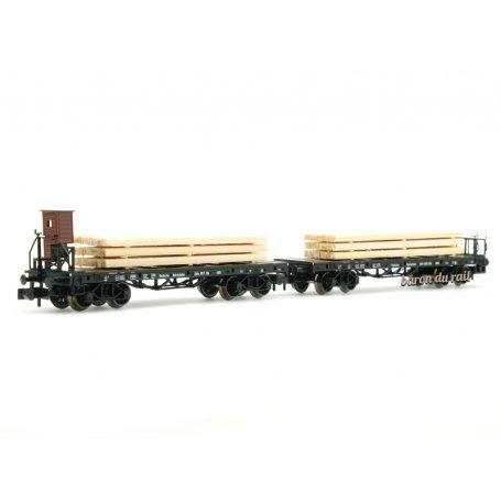 2x wagons à ranchers, DRG ép. II - N 1/160 - Fleischmann 828507