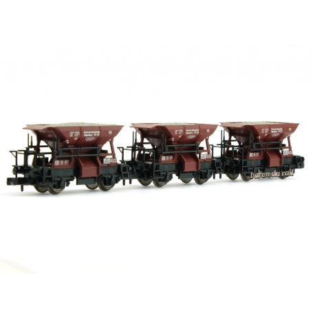 3x wagons à ballast, DRG ép. II - N 1/160 - Fleischmann 822706