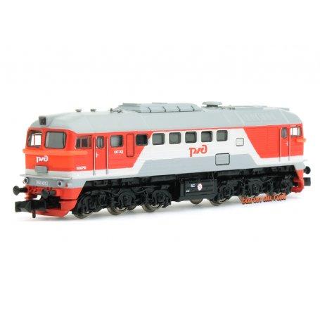 Locomotive diesel M62, RZD - analogique - N 1/160 - Fleischmann 725210