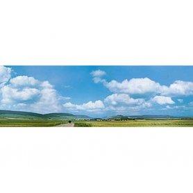 Fond de décor nuages et campagne - FALLER 180514