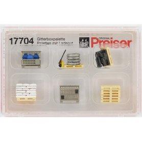 PREISER 17704 - palettes avec cargaison - HO 1/87