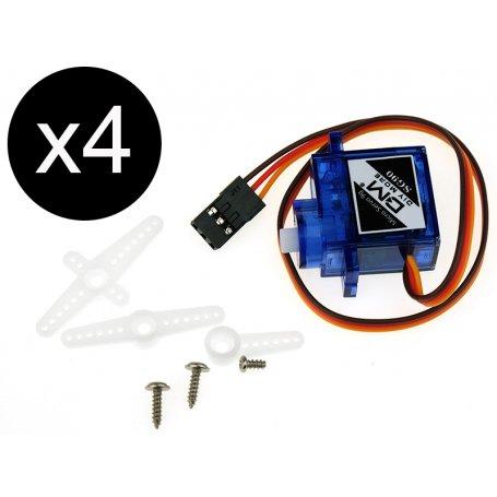 4x micro servomoteur 9G pour modélisme