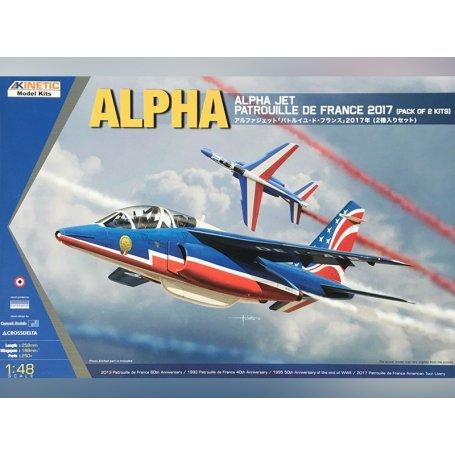 Alpha Jet Patrouille de 2017 (x2 avions) - échelle 1/48 - KINETIC K48064