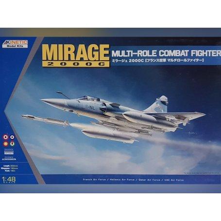 Mirage 2000C Multi-role Combat Fighter - échelle 1/48 - KINETIC K48042