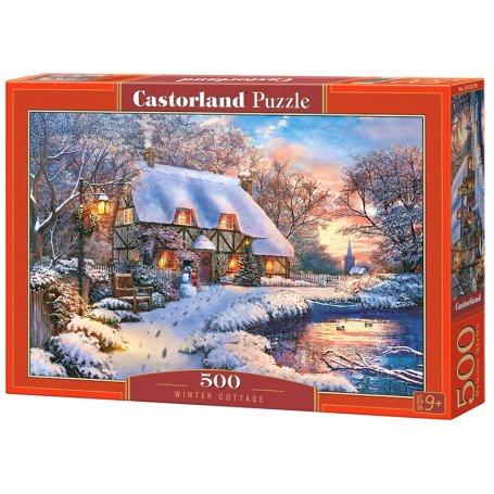 Winter Cottage - Puzzle 500 pièces - CASTORLAND