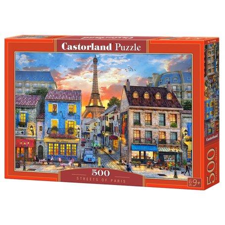 Streets of Paris - Puzzle 500 pièces - CASTORLAND