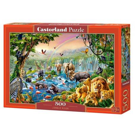 Jungle River - Puzzle 500 pièces - CASTORLAND