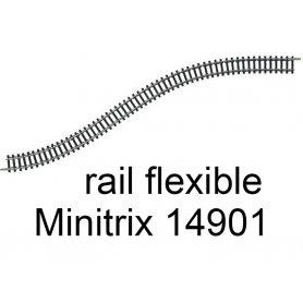 Voie flexible 730 mm Minitrix - Trix 14901