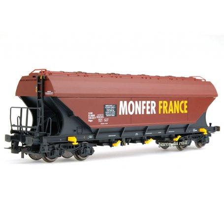Wagon trémie Uagpps à parois plates Monfer France SNCF ép. VI - HO 1/87 - JOUEF HJ6204