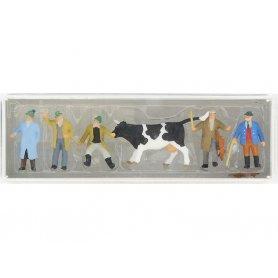 PREISER 10048 - Marchands de bestiaux - HO 1/87