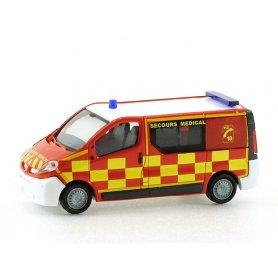 Renault Trafic Pompiers secours médical - HO - 1:87 - Rietze - SAI 3627