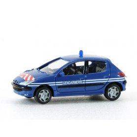 Peugeot 206 gendarmerie - HO 1/87 - AWM 2173
