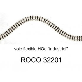 Rail flexible 730 mm voie HOe traverse fine - ROCO 32201