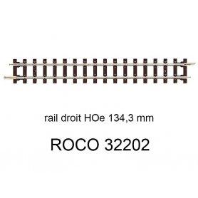 Rail droit 134.3 mm voie étroite HOe - ROCO 32202