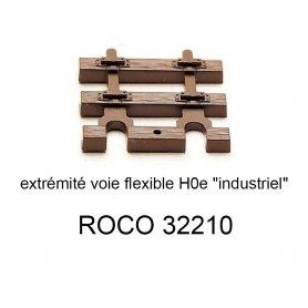 Traverses d'extrémité pour rail flexible 32200 voie étroite HOe - ROCO 32210