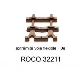 Traverses d'extrémité pour rail flexible 32201 voie étroite HOe - ROCO 32211