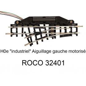 Aiguillage gauche 104.2 mm 24 degrés voie étroite HOe - ROCO 32401