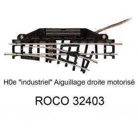 Aiguillage droite 104.2 mm 24 degrés voie étroite HOe - ROCO 32403