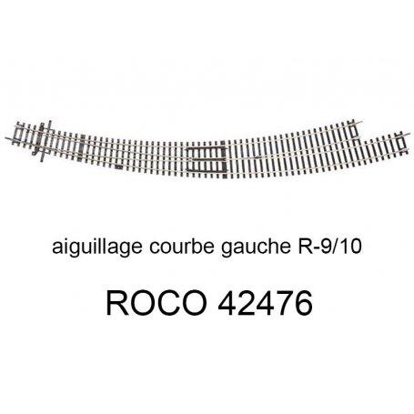 Aiguillage courbe à droite R5-R6 30 degrés ROCO 42471