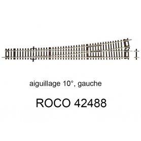 Aiguillage à gauche 345mm 10 degrés - ROCO 42488