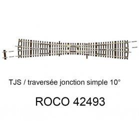 Traversée Jonction Simple (TJS) 10 degrés - ROCO 42493