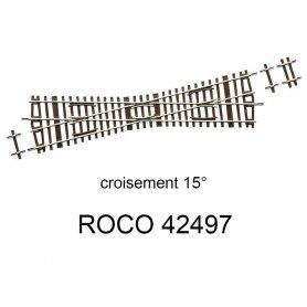 Croisement 230mm 15 degrés - ROCO 42497