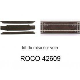 Kit auto-enraillement pour voies Geoline et Rocoline - ROCO 42609