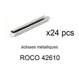 24 éclisses métalliques Geoline et Rocoline - ROCO 42610