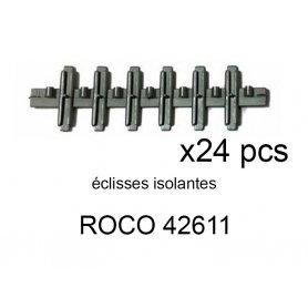 24 éclisses isolantes Geoline et Rocoline - ROCO 42611