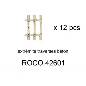 12x extrémités de traverses béton pour rail flexible 42401 - ROCO 42601