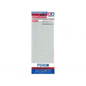Tamiya P240 - Papier abrasif pour ponçage de finition