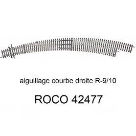 Aiguillage courbe à droite R9-R10 30 degrés - ROCO 42477