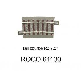 Rail courbe R3 434.5 mm 7.5 degrés voie Geoline HO - ROCO 61130