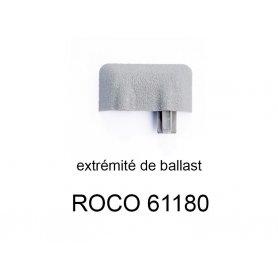Extrémité de rail ballastée voie Geoline HO - ROCO 61180