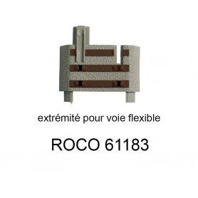6 compensateurs de longueur pour rail flexible voie Geoline HO - ROCO 61183