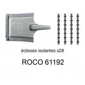 24 éclisses isolantes pour voie Geoline HO - ROCO 61192