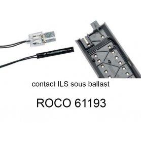 Interrupteur à lame souple ILS câblé pour voie Geoline HO - ROCO 61193