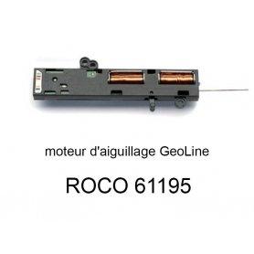 Moteur d'aiguillage électrique pour voie Geoline HO - ROCO 61195