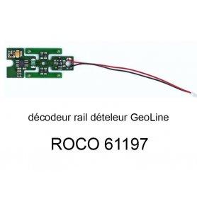 Décodeur digital pour rail dételeur en voie Geoline HO - ROCO 61197